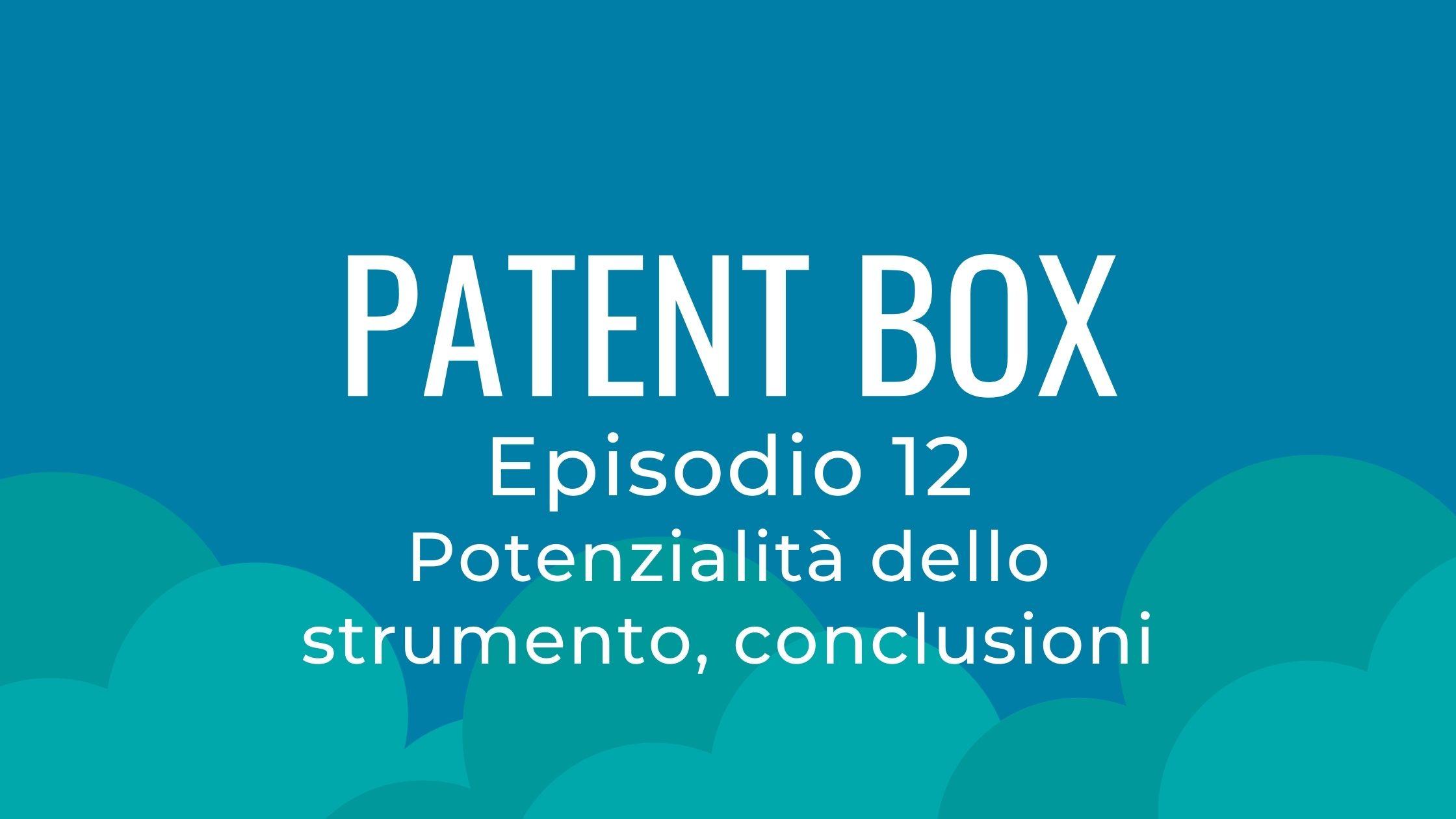 patent box conclusioni