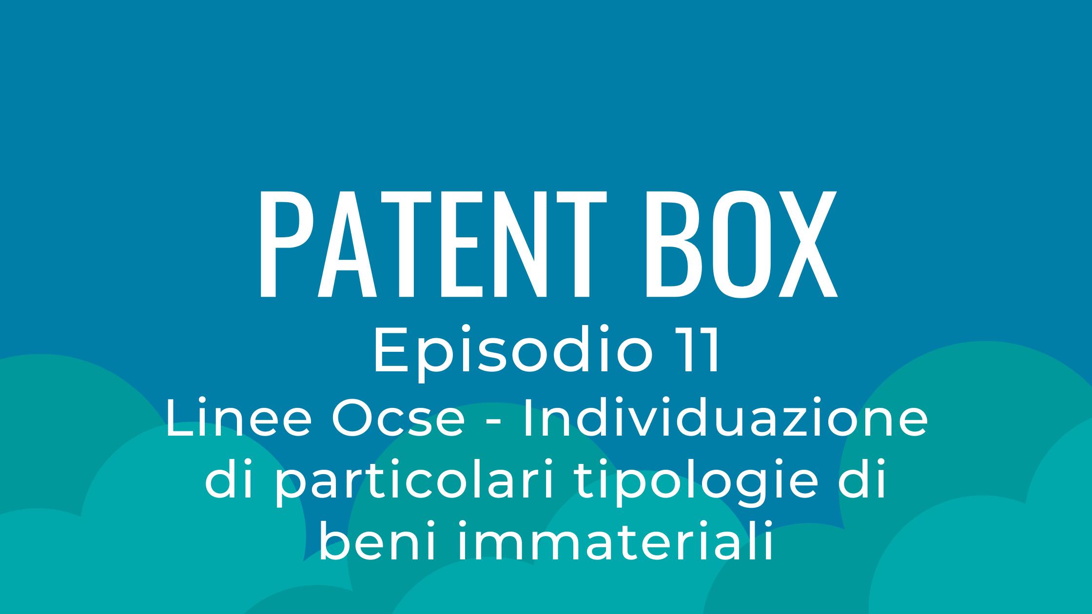 linea ocse patent box