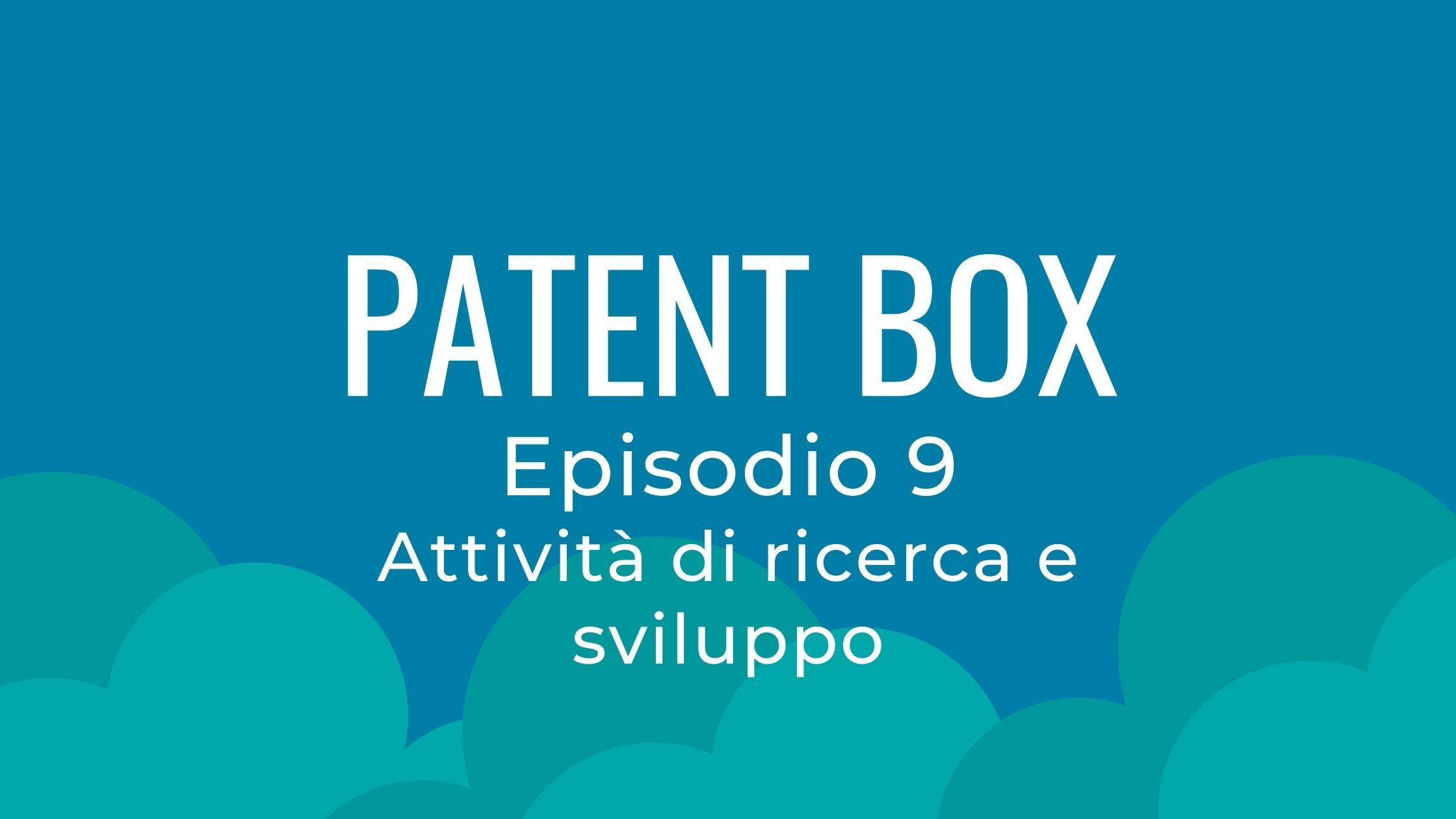 patent box ricerca e sviluppo